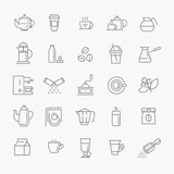 Coffee line icon set - 108150130
