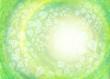 Hintergrund mit Kreisen und Blättern Pastellfarben Ruhe
