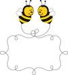 Obrazy na płótnie, fototapety, zdjęcia, fotoobrazy drukowane : Flying bees making label in the air