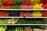 Vegetables on shelf in supermarket - 108194504