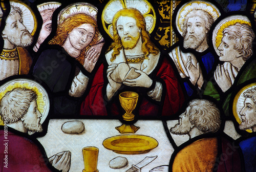 Plakat The last Supper in stained glass