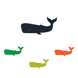 Sperm whale icon