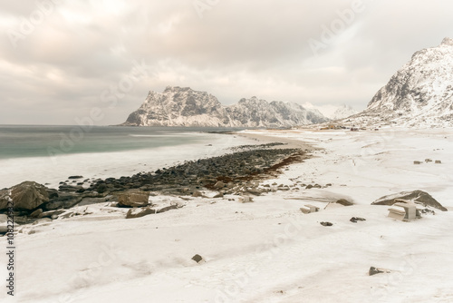 Utakleiv Beach, Lofoten Islands, Norway - 108222932