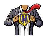 vector color Superhero