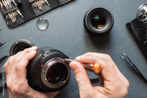 Poster Photo camera lens repair set