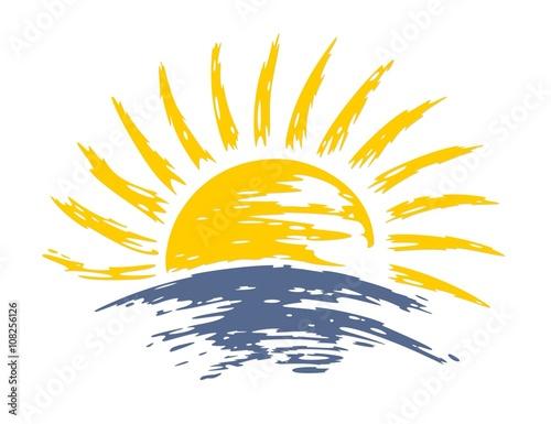 sun Dawn in the sea.