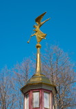 Weathervane on the spire in the form of an angel with a trumpet