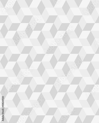 Geometric gray hexagon seamless pattern, vector - 108261130