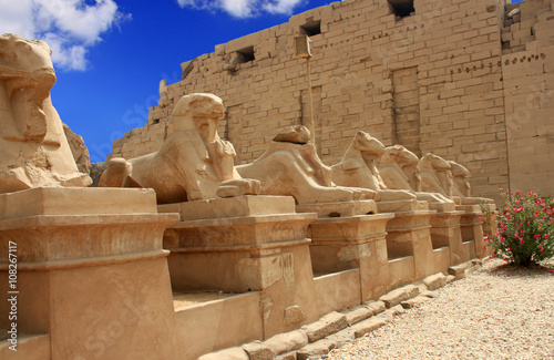 Poster Egypte Karnak Temple ( Thebes ) in Luxor. Egypt