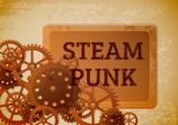 Vintage steampunk background