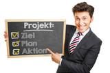 Ziel Plan Aktion für ein Projekt