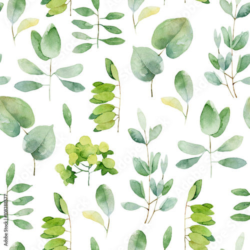 Cotton fabric Seamless herbal pattern