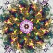 Obrazy na płótnie, fototapety, zdjęcia, fotoobrazy drukowane : Abstract Ornament Background Color Flash
