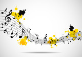 Fototapety Abstract musical background with notes