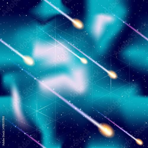 Seamless meteor shower background © Jadehawk