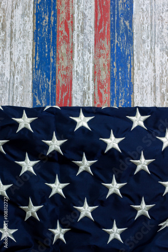 Poster July 4th Stars and Stripes background