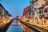 Kanał Naviglio Grande w Mediolanie, Włochy