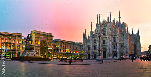 Foto op Canvas Milan Duomo cathedral in Milan, Italy