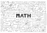 Fototapety Hand drawn Math formulas for background