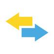 Exchange vector icon illustrator for web