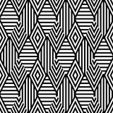 Fototapety Vector seamless pattern with black and white striped rhombus. Abstract universal background. Trendy design for fashion textile print, wrapping paper, web background, package.