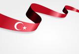 Turkish flag background. Vector illustration.