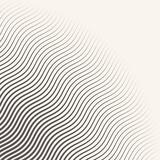 monochrome striped halftone wave vector background.