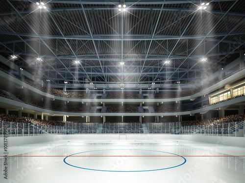 obraz PCV Eishockeyhalle Mittellinie