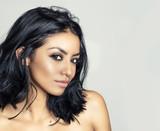 Beautiful woman sexy wild hair