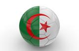 Soccer ball with Algeria flag; 3d rendering