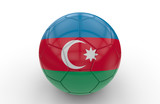 Soccer ball with Azerbaijan flag; 3d rendering
