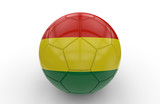 Soccer ball with Bolivia flag; 3d rendering