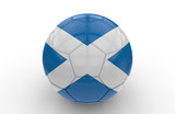 Soccer ball with Scotland flag; 3d rendering