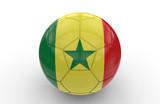 Soccer ball with Senegal flag; 3d rendering