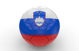 Soccer ball with Slovenia flag; 3d rendering
