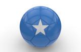 Soccer ball with Somalia flag; 3d rendering