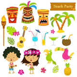 Cute Hawaiian Elements - 108383966