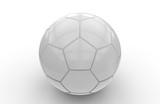 White soccer ball; 3d rendering
