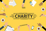 vector charity concept,template