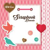 Design of Scrapbook icons, vector design