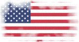 american flag halftone - 108391371