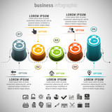Business infographic. Made with blend. File contains text editable AI, EPS10,JPEG and free font link used in design.