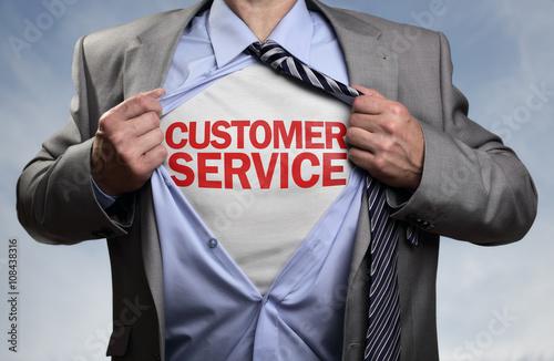 Customer service superhero Poster