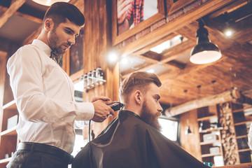 Perfect trim at barbershop.
