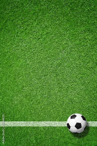 Fotobehang Voetbal Fußball auf Rasen