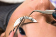 Постер, плакат: eyelash at the beauty salon facials make up