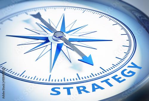 Leinwandbild Motiv Kompass Strategy