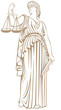 Постер, плакат: fair trial Law lady justice Themis