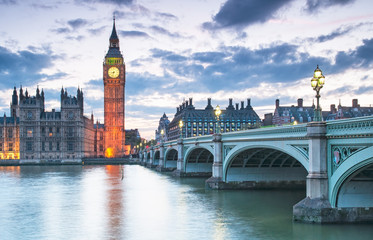 Fototapeta Big Ben i Parlament w nocy Londyn