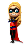 Fototapety cute girl as a superhero